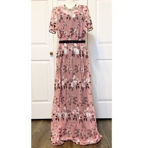 LulaRoe DeAnne II Layering Pink Embroidered Dress